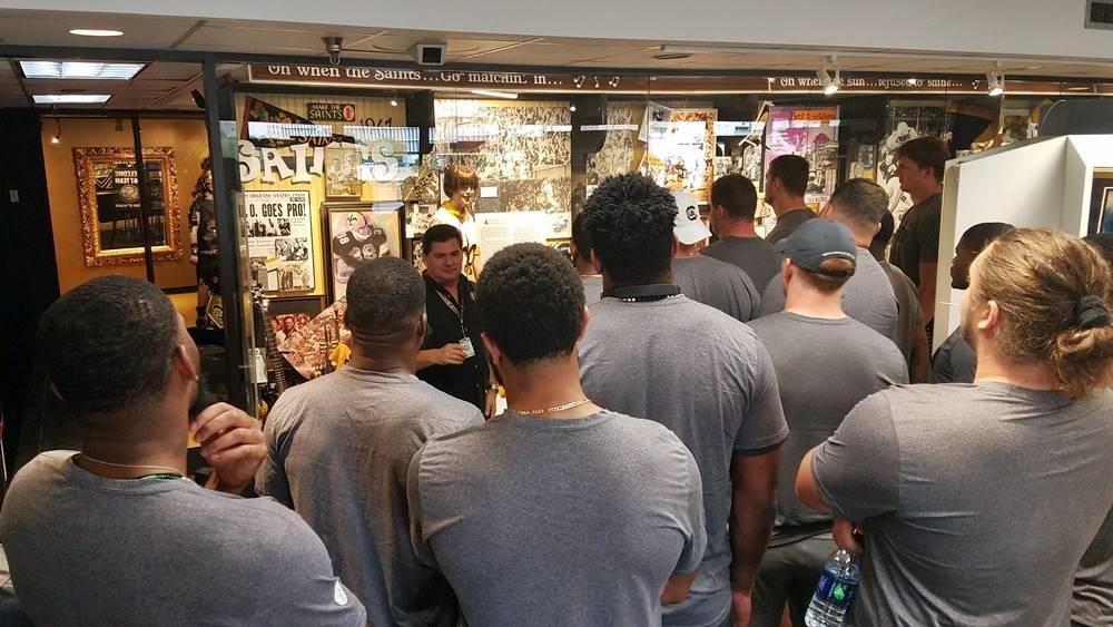 Saints rookies visit SHOF museum